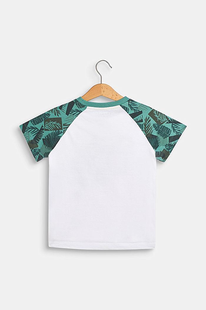 Camiseta con rótulo estampado, 100% algodón , WHITE, detail image number 1
