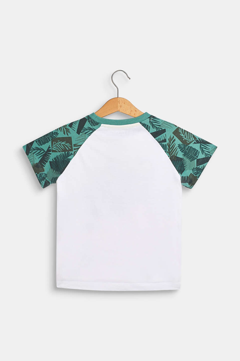 T-shirt with a statement print, 100% cotton, WHITE, detail image number 1