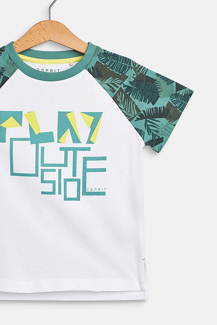 Camiseta con rótulo estampado, 100% algodón , WHITE, detail image number 2