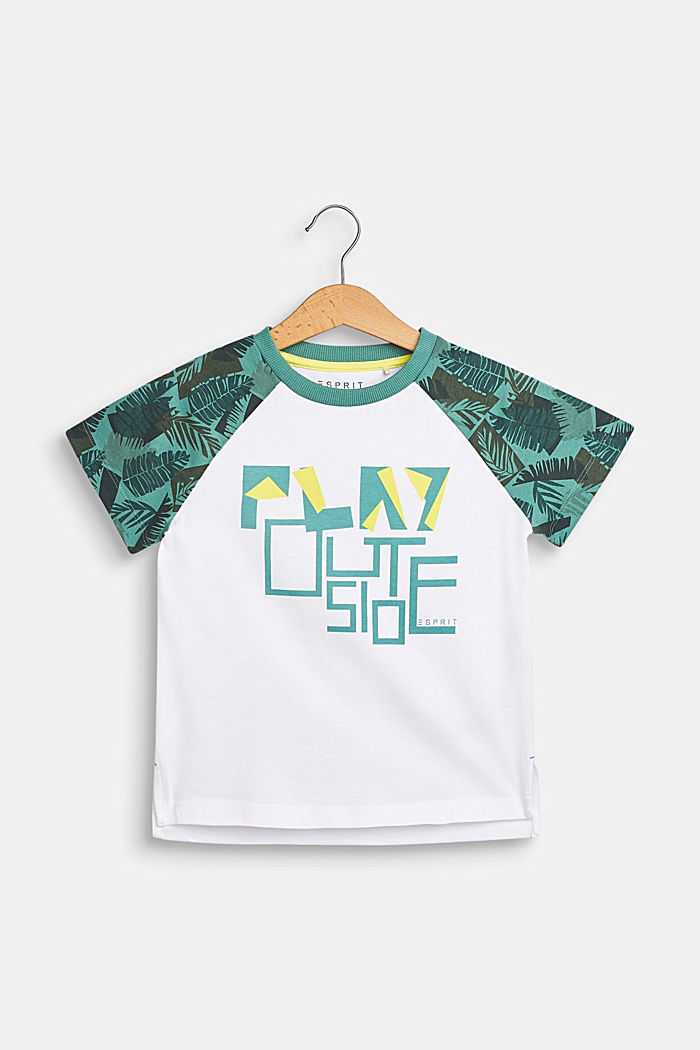 Camiseta con rótulo estampado, 100% algodón , WHITE, detail image number 0