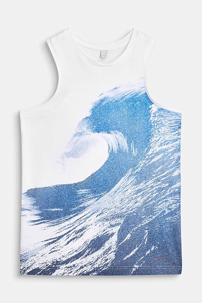 Tanktop mit Wellen-Print, 100% Baumwolle, LCWHITE, detail image number 0