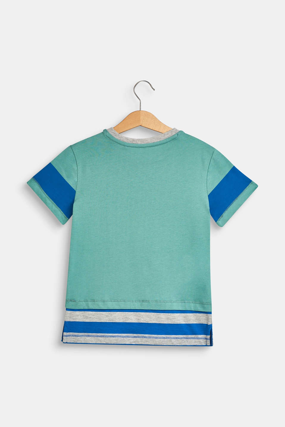 100% cotton T-shirt with a monkey print, SOFT GREEN, detail image number 1