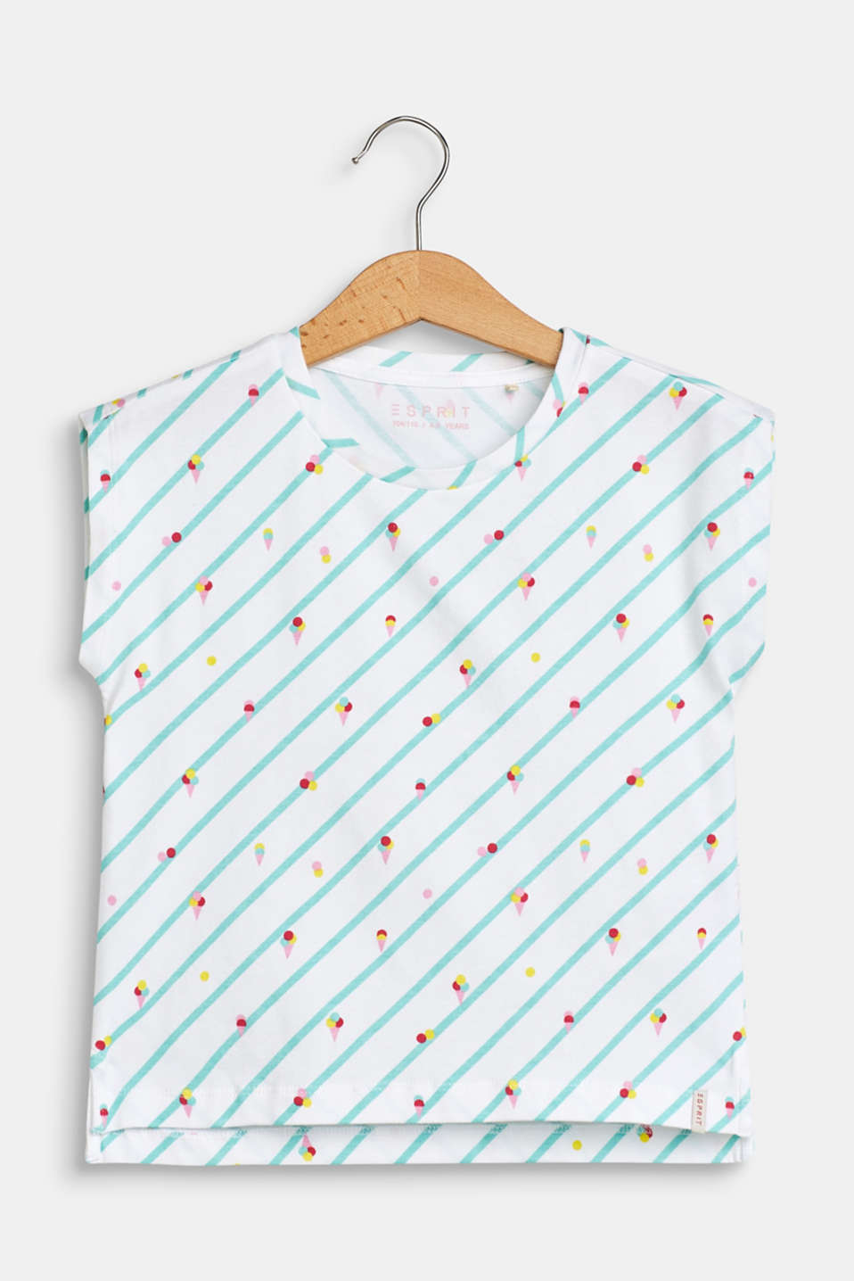 Esprit - T-shirt with an ice cream print, made of stretch cotton