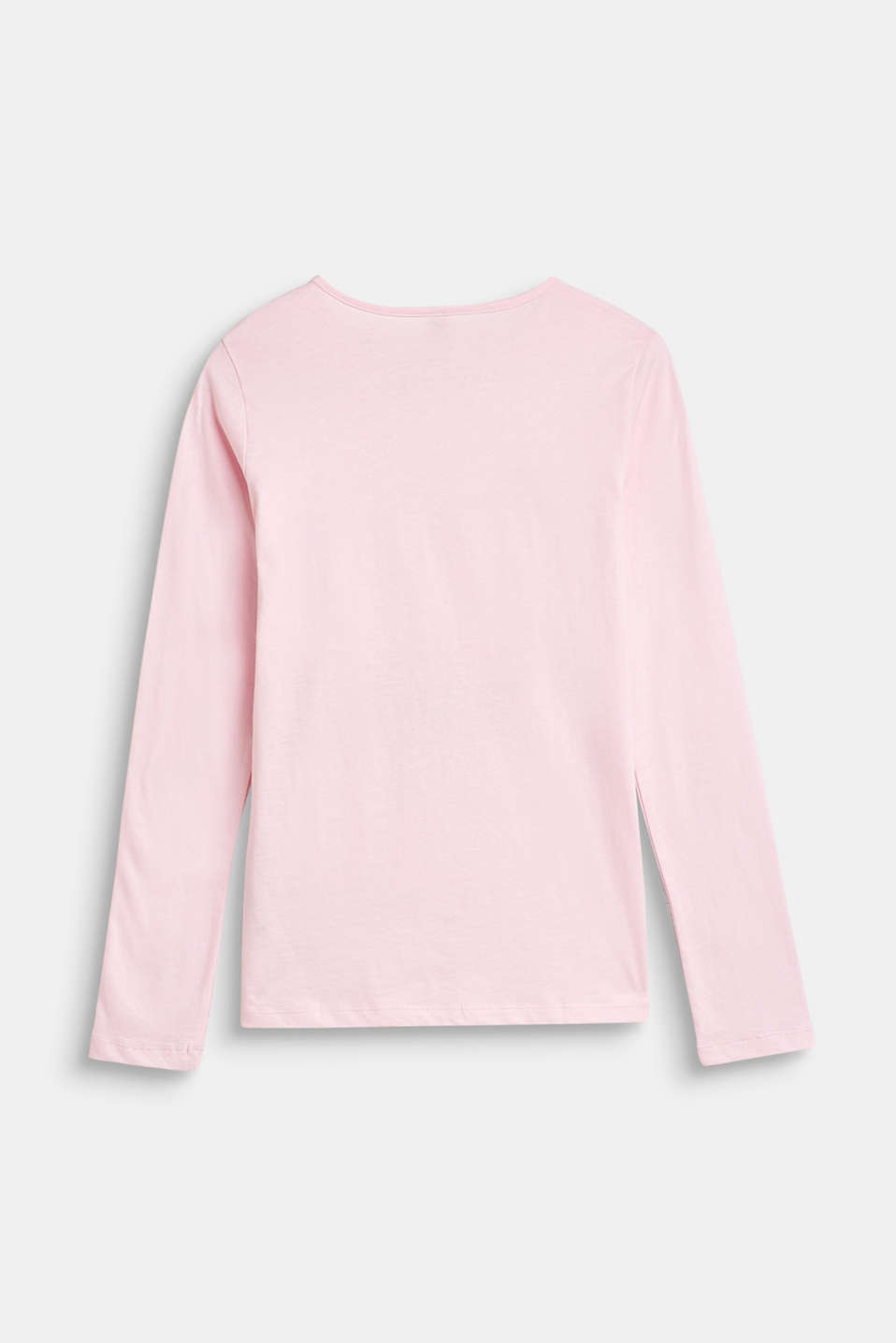 Statement print long sleeve top, 100% cotton, LCBLUSH, detail image number 1