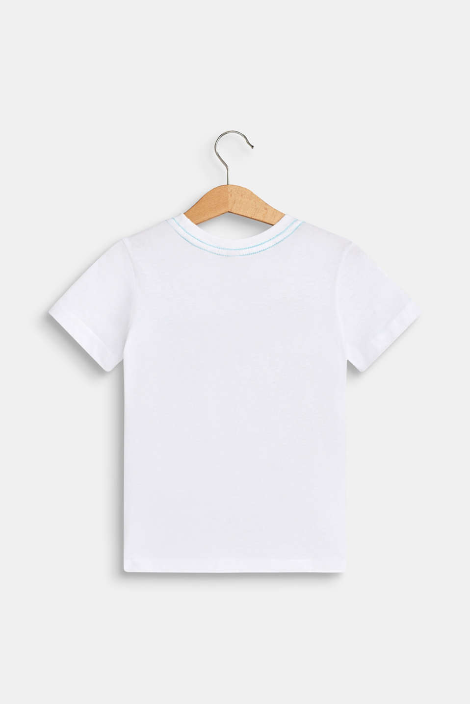100% cotton T-shirt with a front print, WHITE, detail image number 1