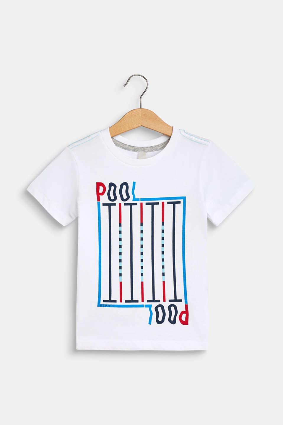 100% cotton T-shirt with a front print, WHITE, detail image number 0