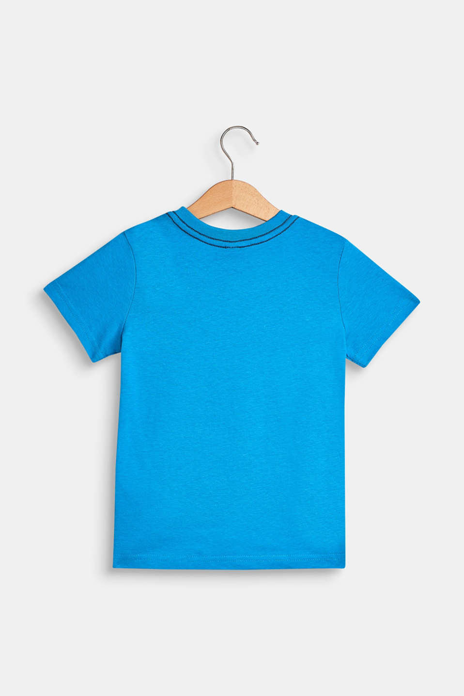 100% cotton T-shirt with a front print, BRIGHT BLUE, detail image number 1