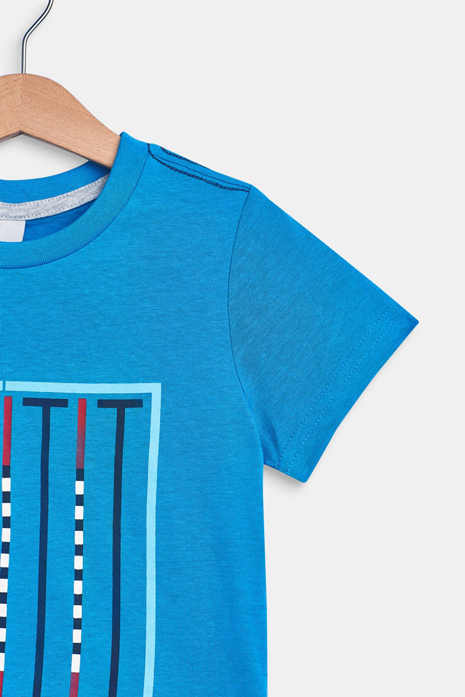 100% cotton T-shirt with a front print, BRIGHT BLUE, detail image number 2