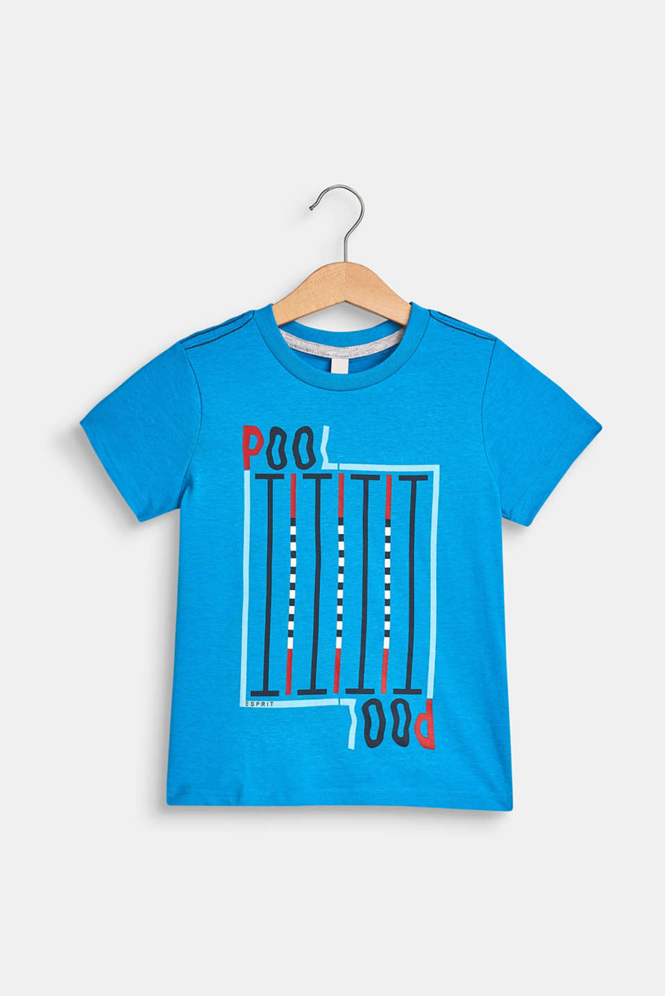 100% cotton T-shirt with a front print, BRIGHT BLUE, detail image number 0