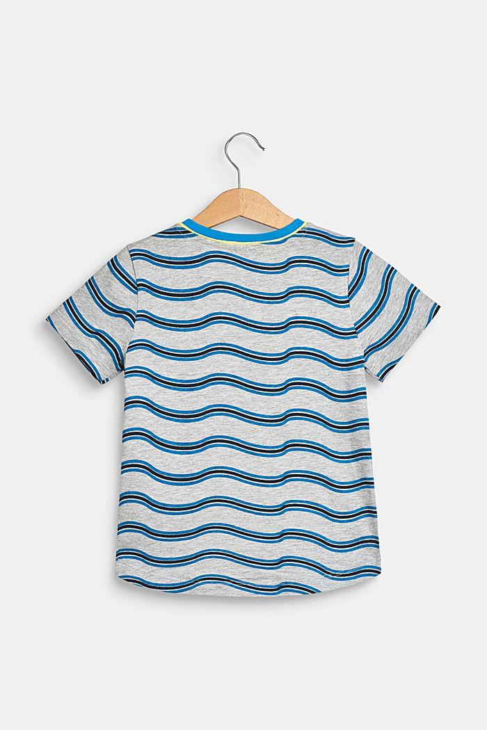 Gemêleerd shirt met golvende print, HEATHER GREY, detail image number 1