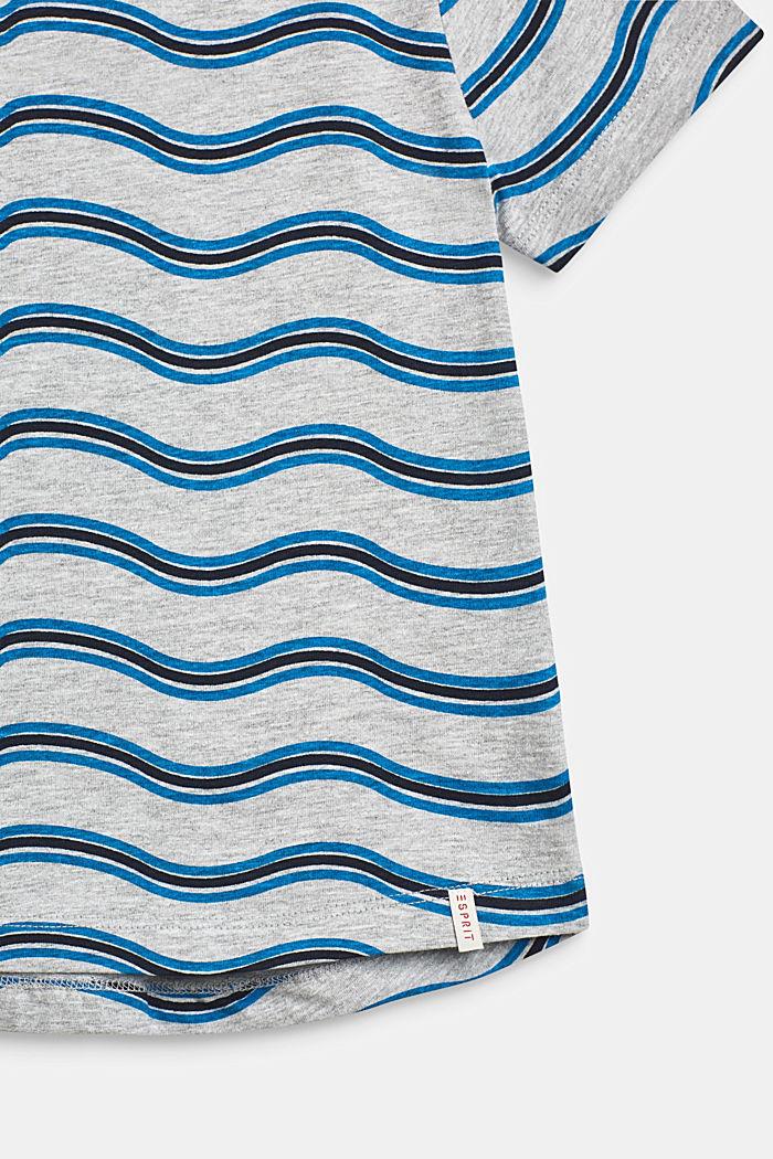 Gemêleerd shirt met golvende print, HEATHER GREY, detail image number 2