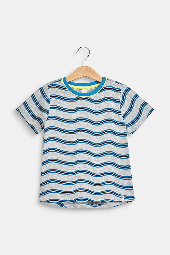 Gemêleerd shirt met golvende print, HEATHER GREY, detail image number 0