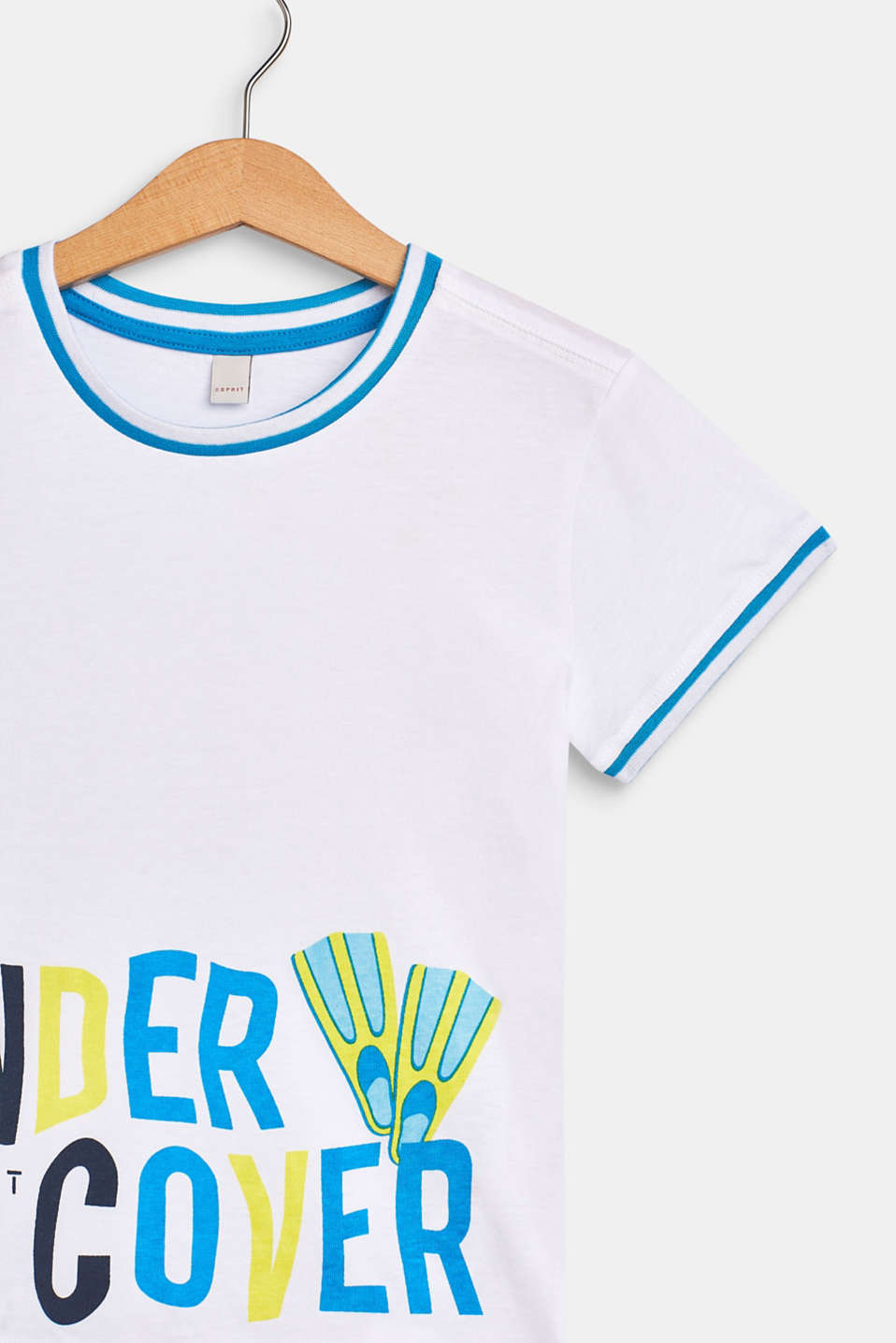 T-shirt with a fun print, 100% cotton, WHITE, detail image number 2