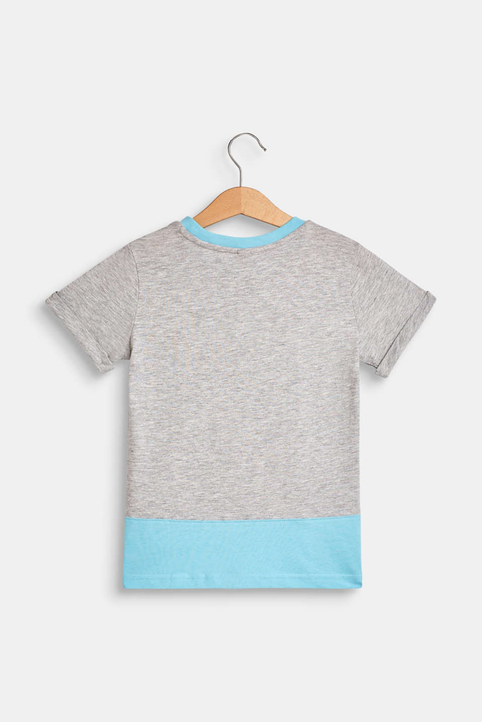 T-shirt with a summer print, 100% cotton, HEATHER GREY, detail image number 1