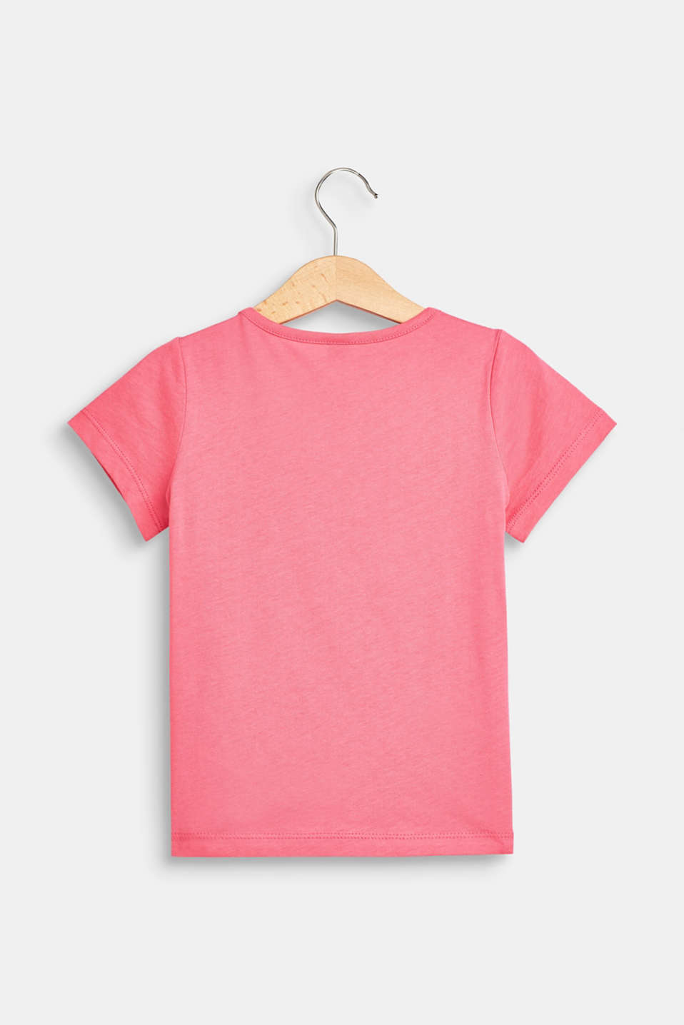 T-shirt with a glittering horse print, 100% cotton, DARK PINK, detail image number 1