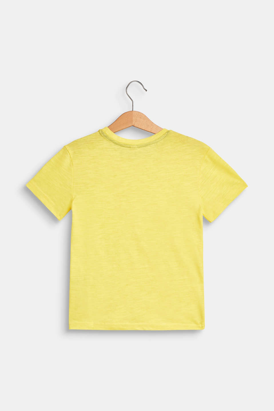 T-shirt with a summer print, 100% cotton, LEMON, detail image number 1