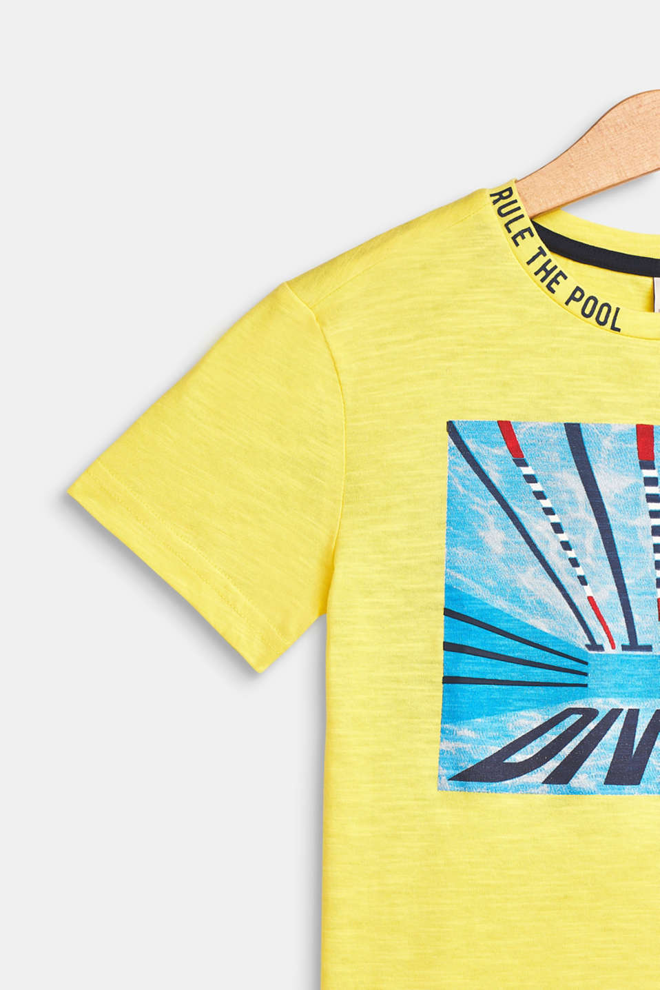 T-shirt with a summer print, 100% cotton, LEMON, detail image number 2