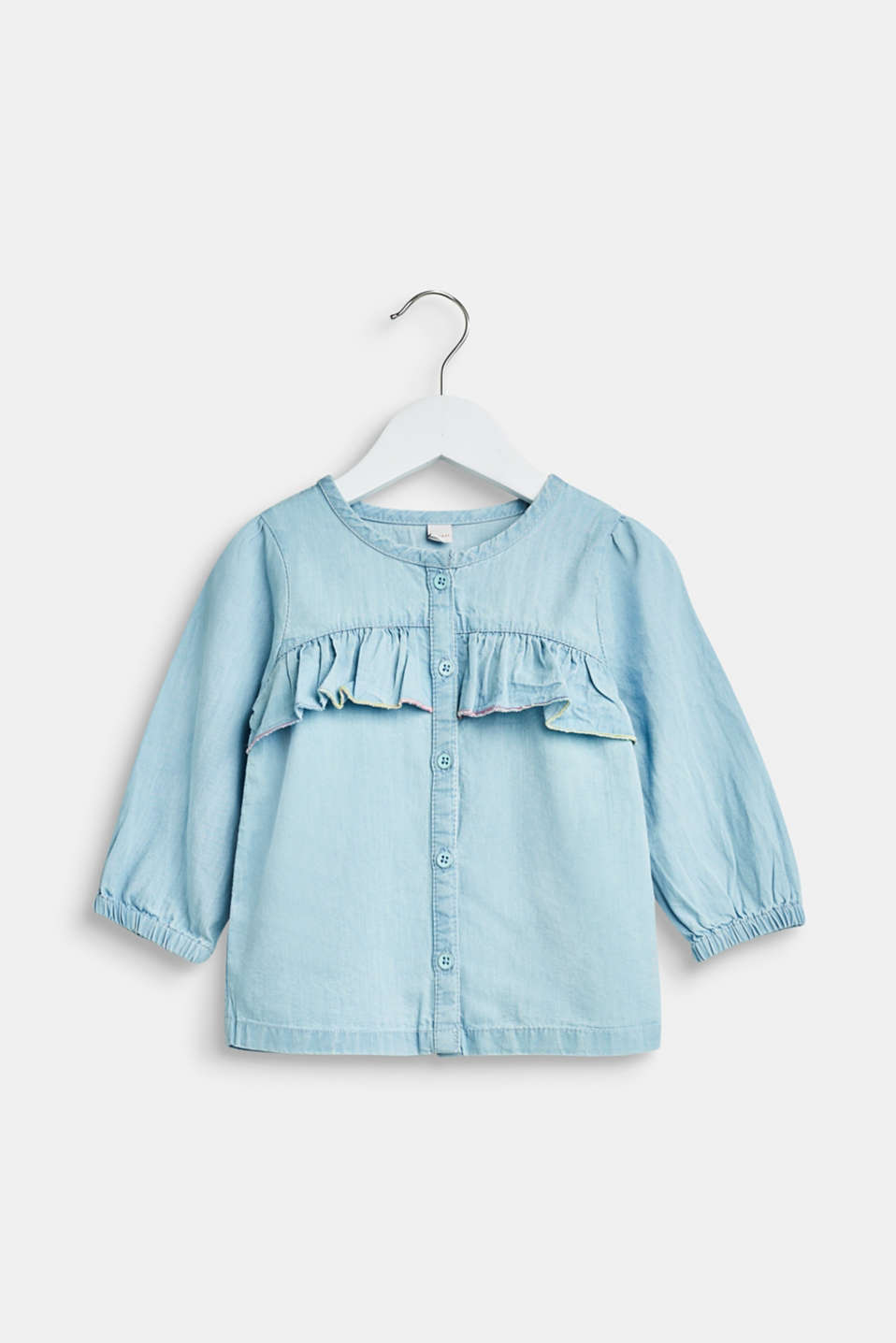 Esprit - Bleached denim blouse, 100% cotton