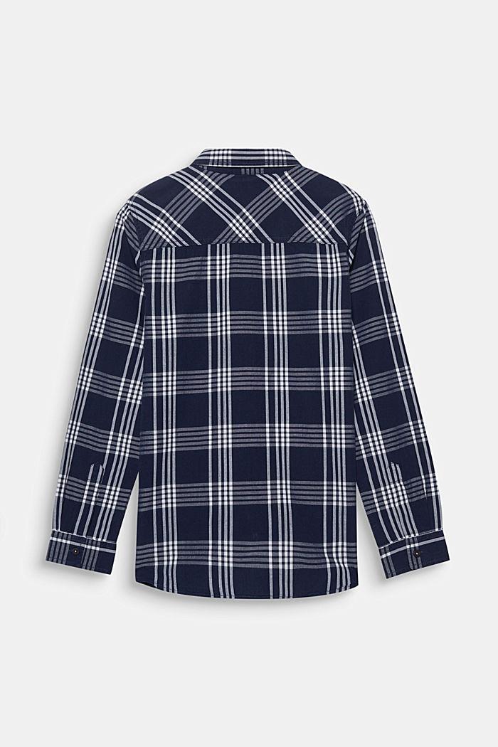 Ternet skjorte i 100% bomuld, LCNAVY BLUE, detail image number 1