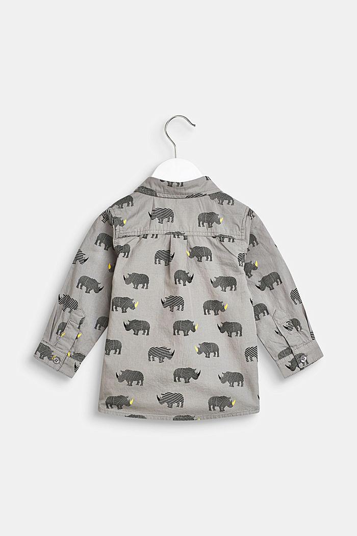 Camisa con estampado de rinoceronte, 100% algodón, LCLIGHT GREY, detail image number 1
