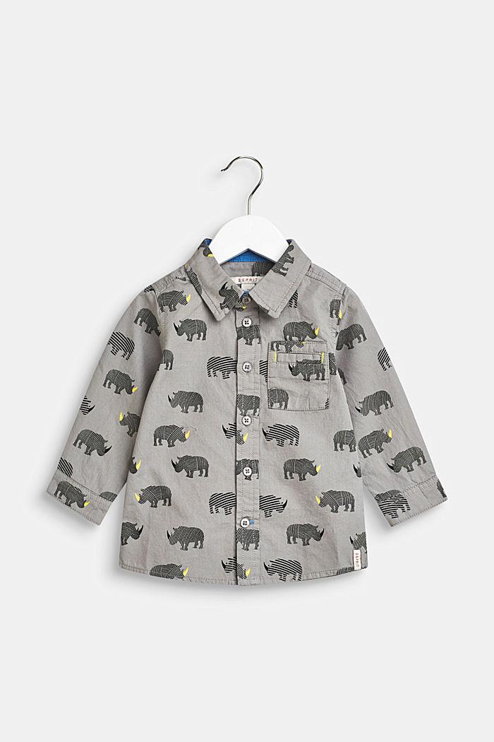 Camisa con estampado de rinoceronte, 100% algodón, LCLIGHT GREY, detail image number 0
