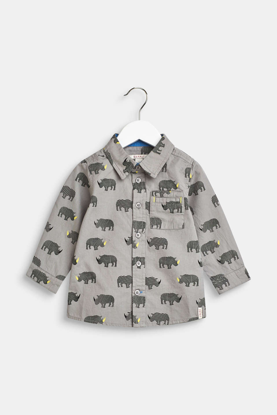 Esprit - Shirt with a rhino print, 100% cotton