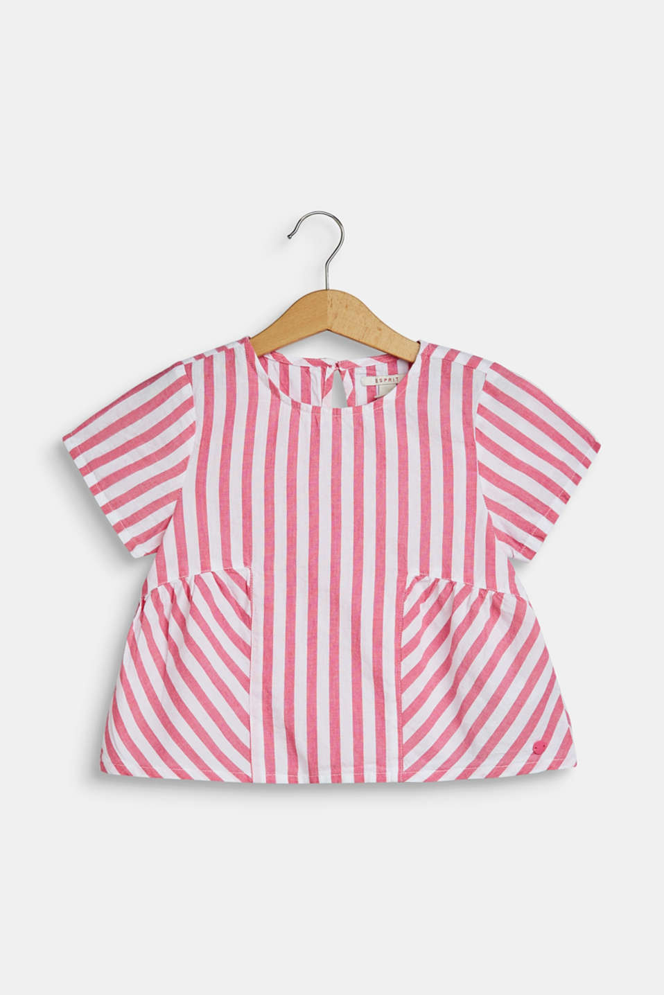 Esprit - Flared striped blouse, 100% cotton