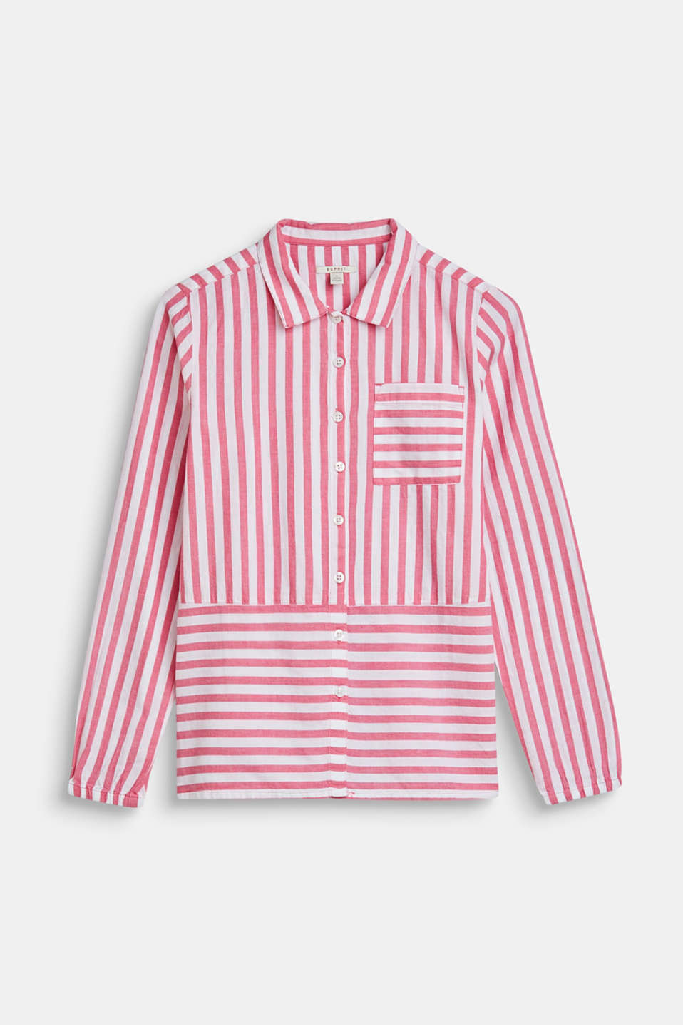 Esprit - Blouse with striped pattern, 100% cotton