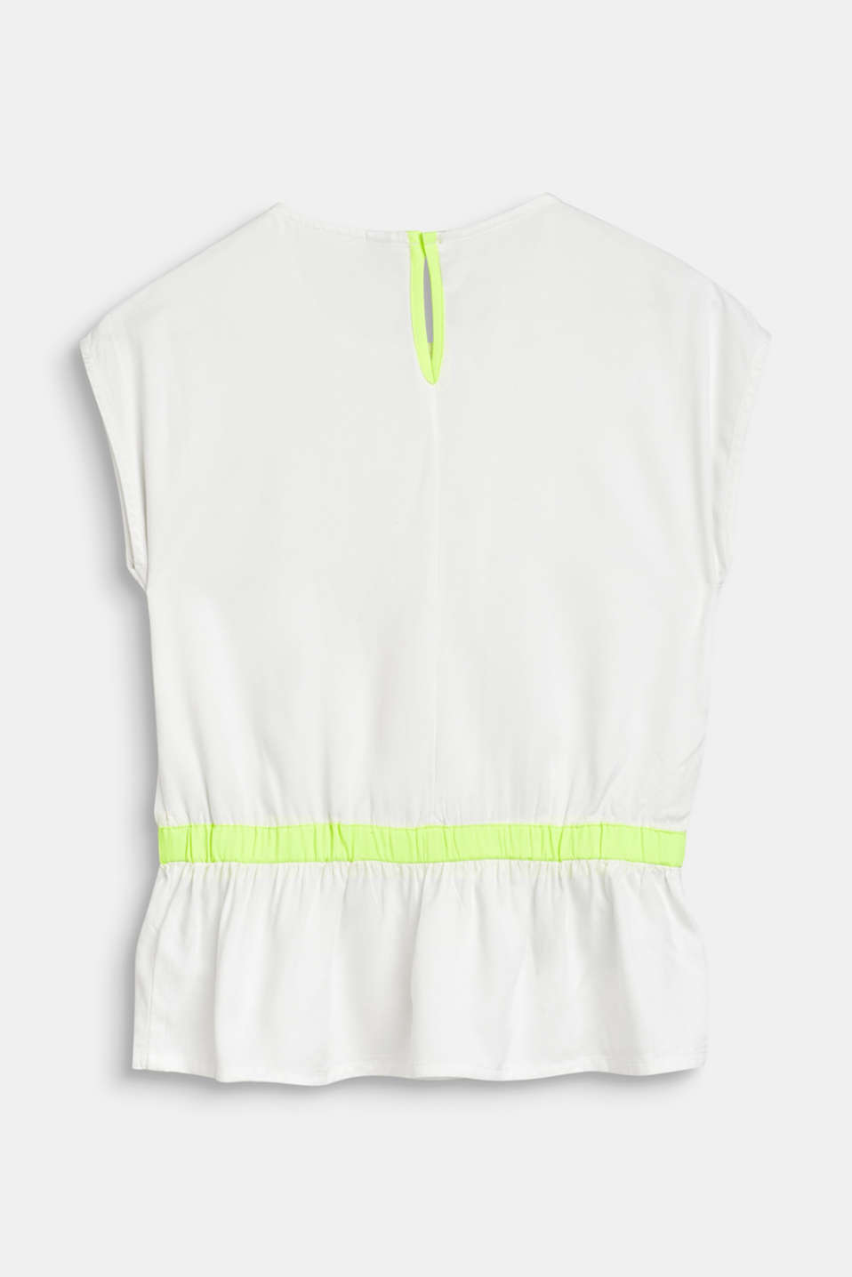 Blouse with pintucks and neon details, LCWHITE, detail image number 1