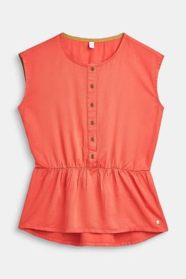 Flowing blouse top with a peplum, LCCORAL, detail