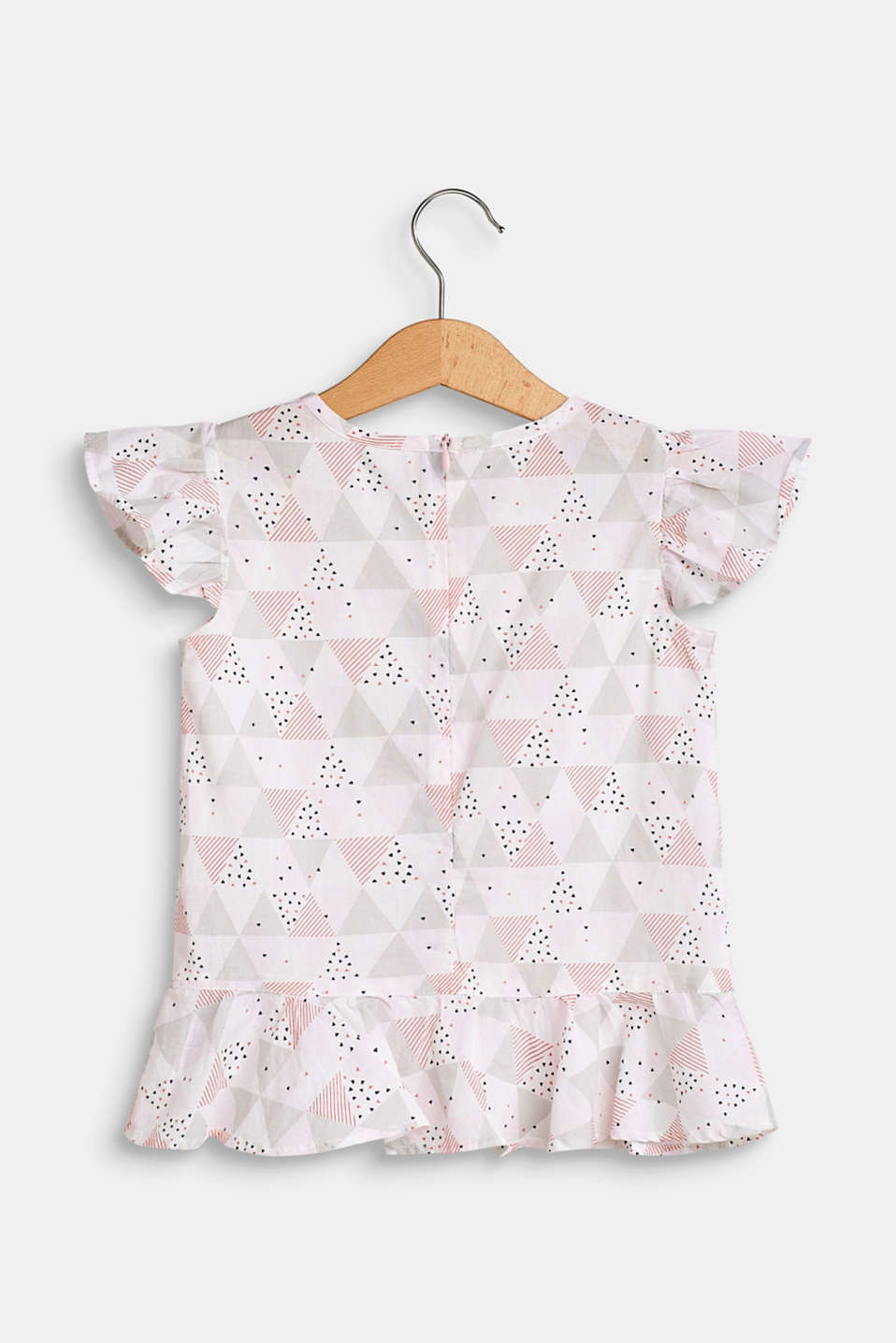 Printed blouse top made of 100% cotton, WHITE, detail image number 1