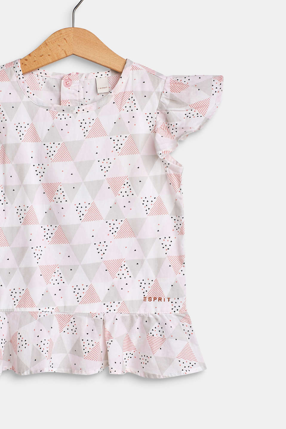 Printed blouse top made of 100% cotton, WHITE, detail image number 2