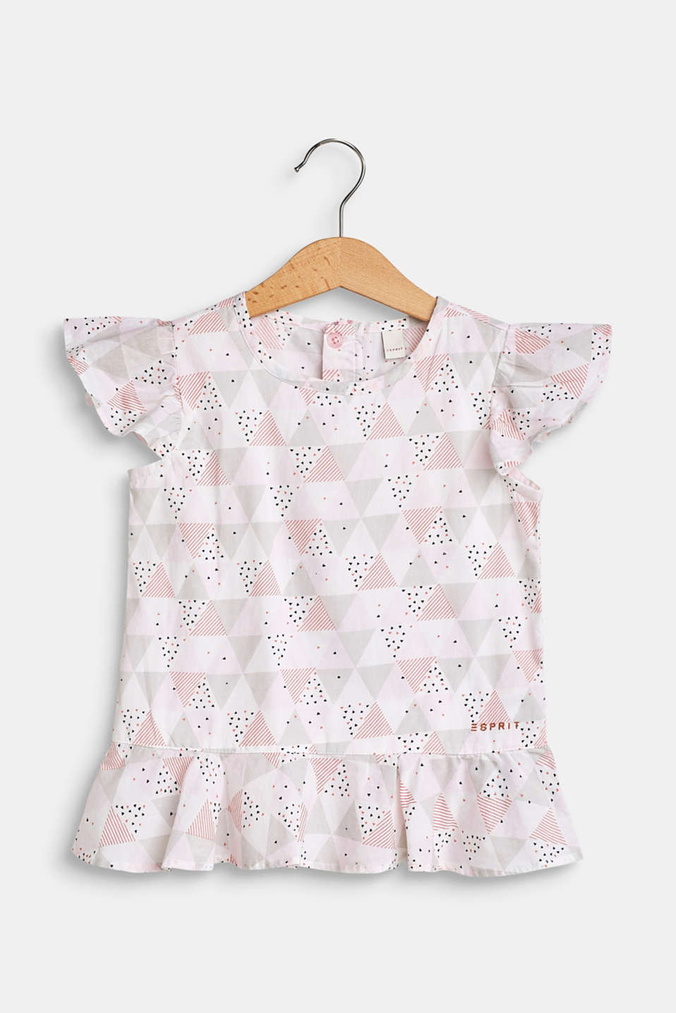 Esprit - Printed blouse top made of 100% cotton