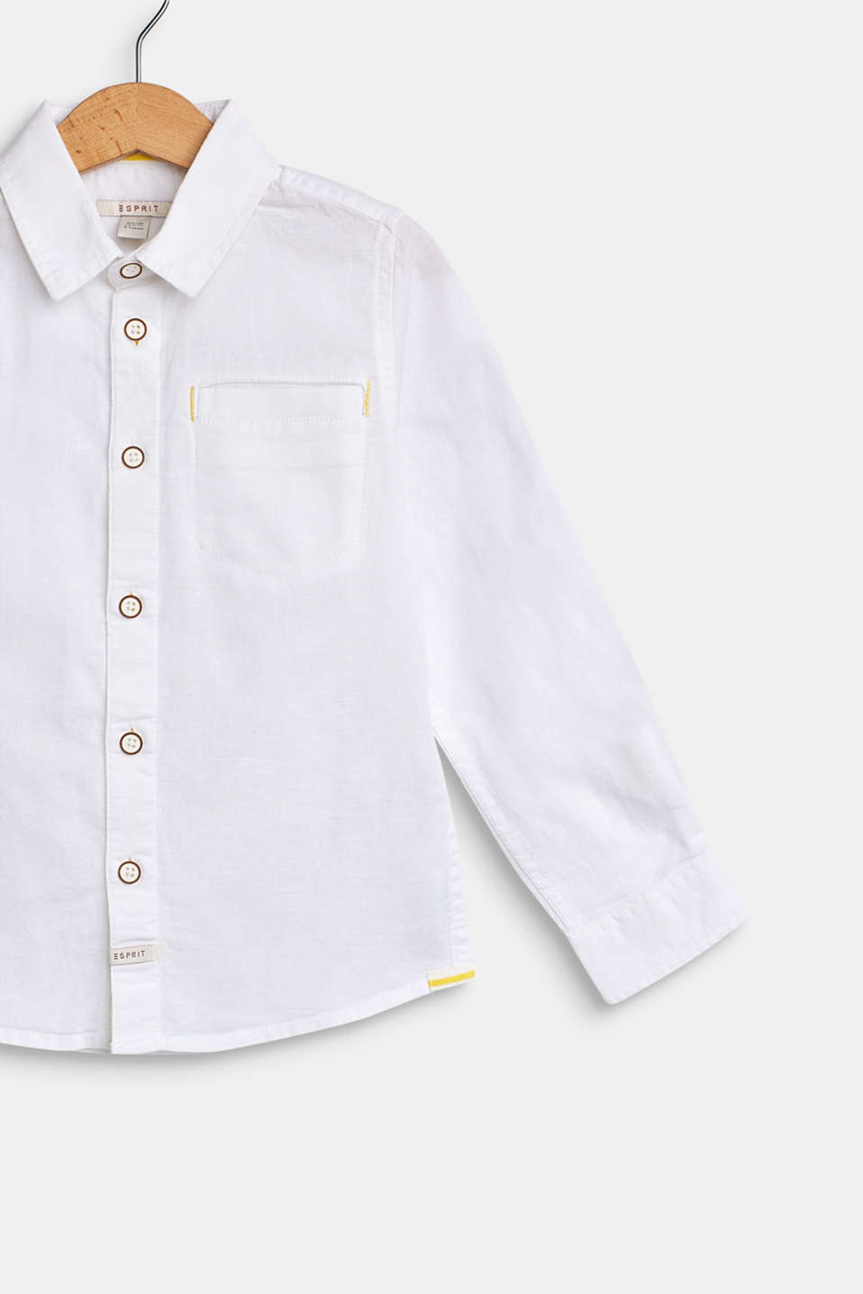 Cotton/linen blend shirt, WHITE, detail image number 2