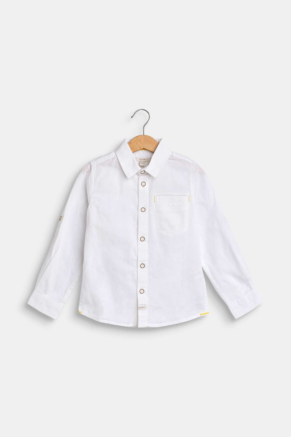 Esprit - Cotton/linen blend shirt