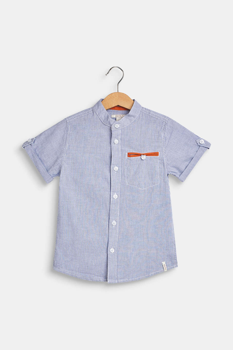 Esprit - Striped short sleeve shirt, 100% cotton