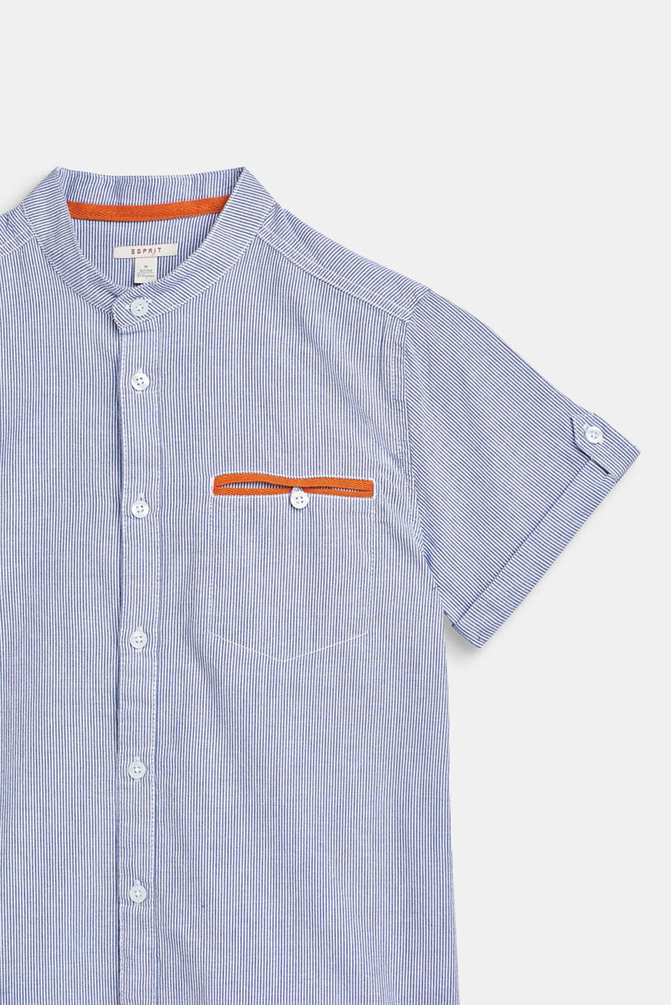 Striped short sleeve shirt, 100% cotton, LCWHITE, detail image number 2