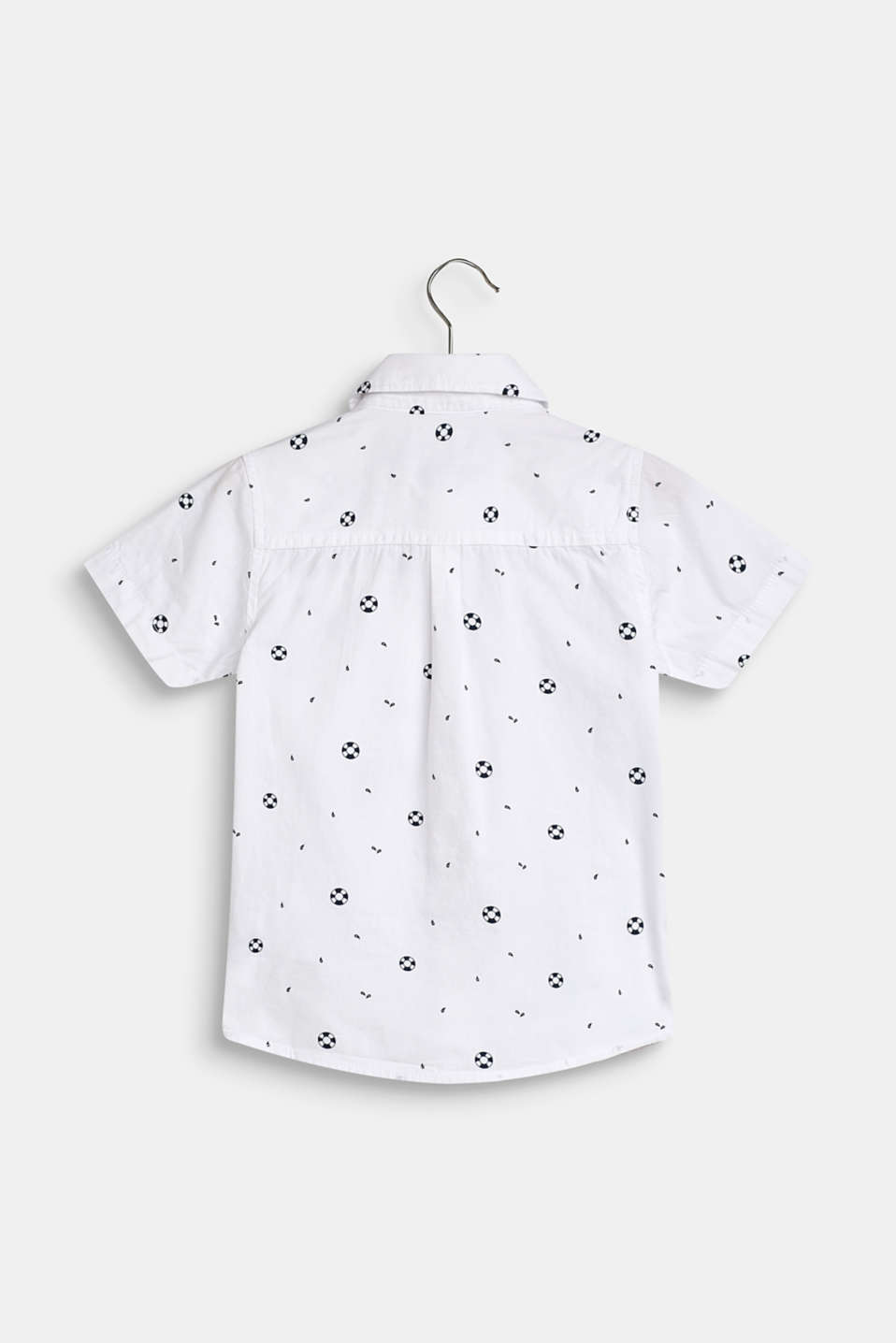 Shirt with a nautical print, 100% cotton, WHITE, detail image number 1