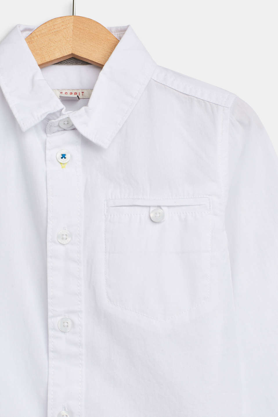 100% cotton shirt with a breast pocket, WHITE, detail image number 2