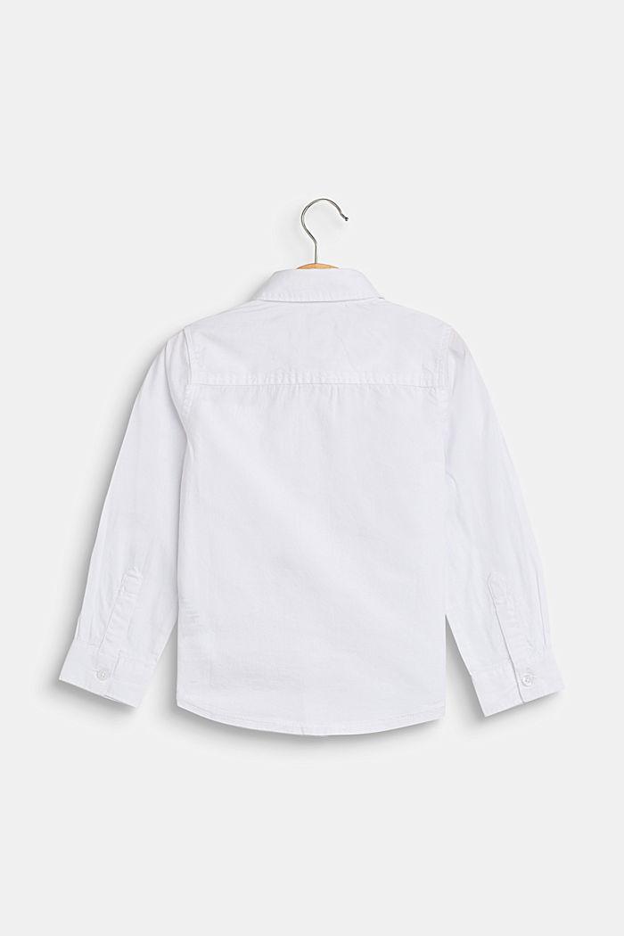 Overhemd met borstzak, 100% katoen, WHITE, detail image number 1