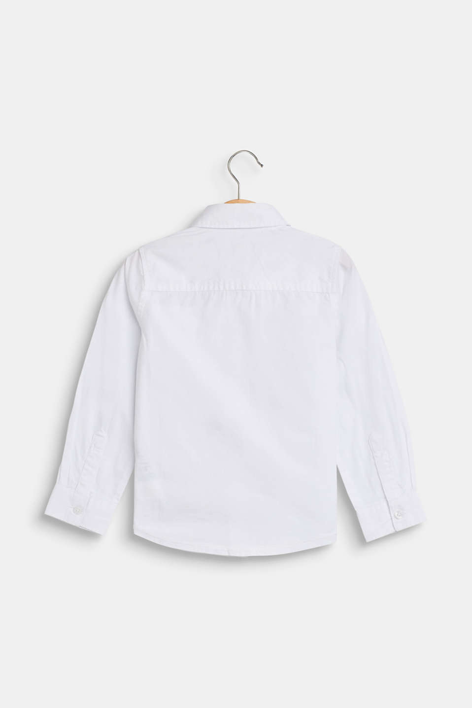 100% cotton shirt with a breast pocket, WHITE, detail image number 1