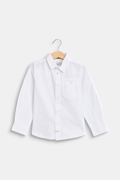 100% cotton shirt with a breast pocket
