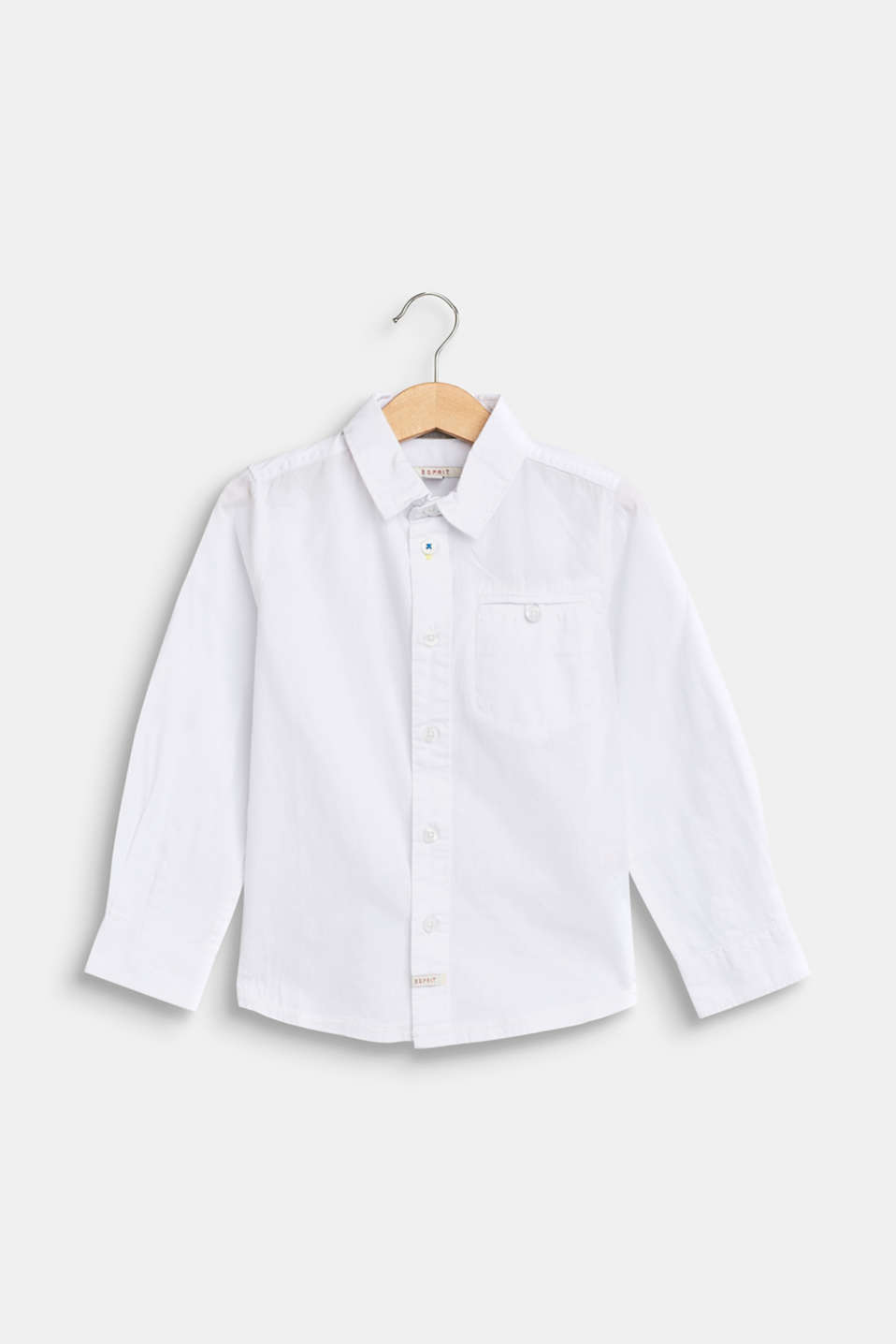 Esprit - 100% cotton shirt with a breast pocket