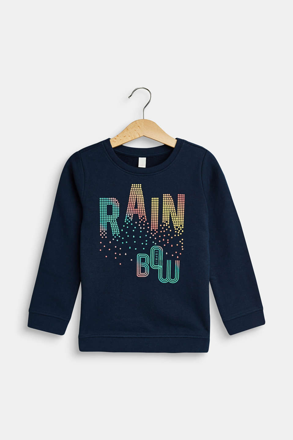 Esprit - Sweatshirt with colourful print, 100% cotton