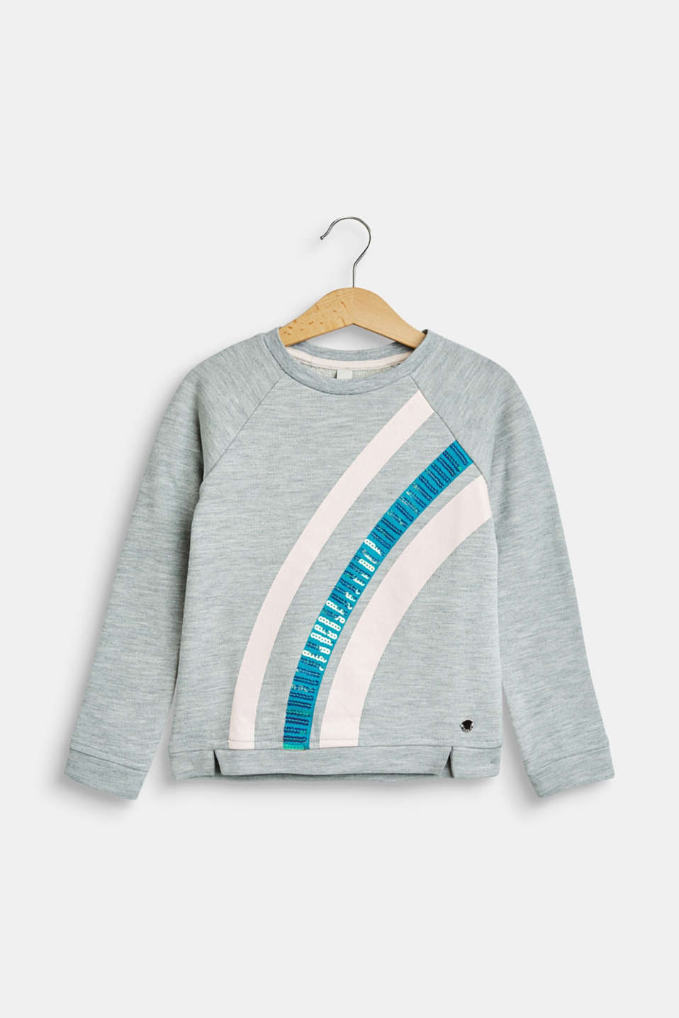 Esprit - Melange sweatshirt with glamorous stripes