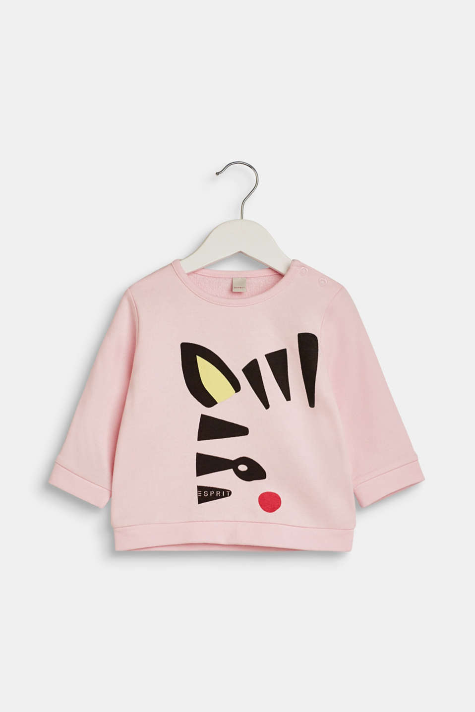 Esprit - Sweatshirt with front print, 100% cotton