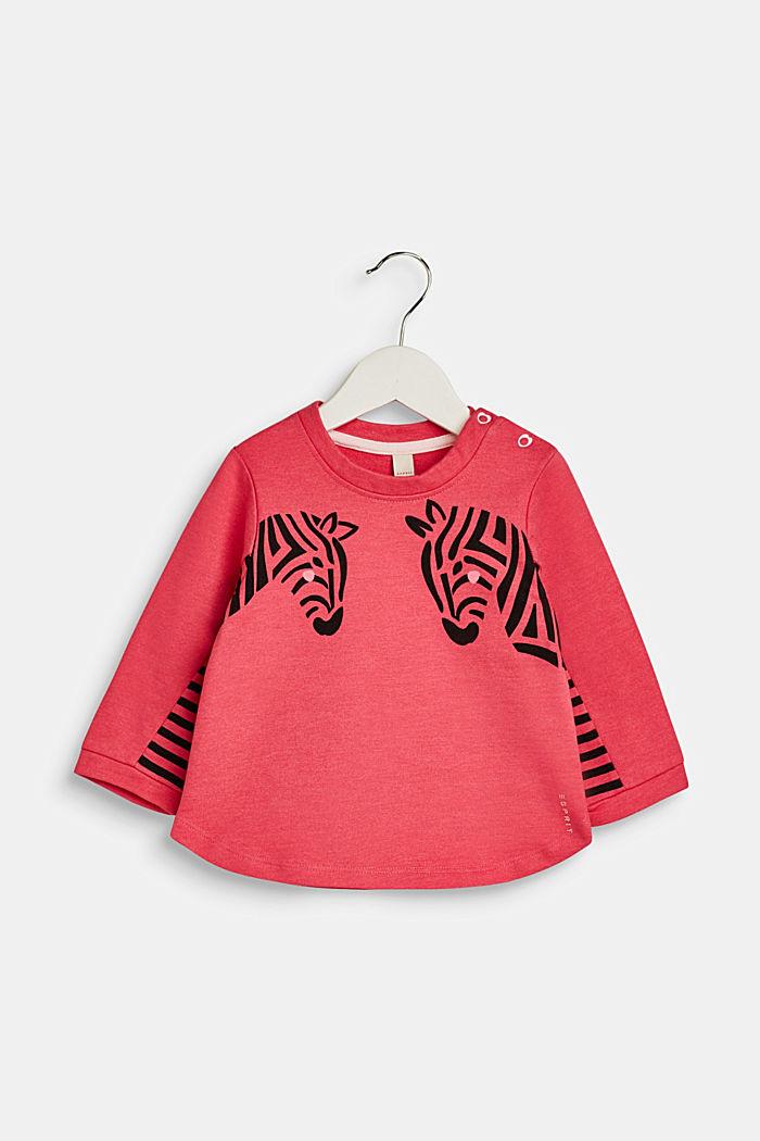 Sweatshirt mit Zebra-Print, LCDARK PINK, detail image number 0