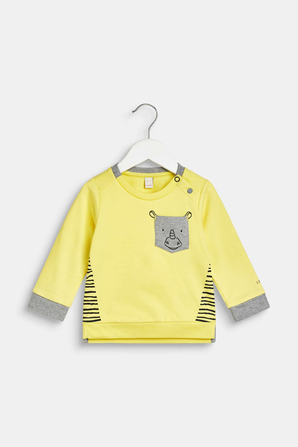 Esprit - Sweatshirt with a rhino print, 100% cotton