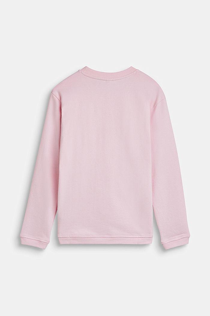 Sweatshirt mit Metallic-Print, 100% Baumwolle, LCLIGHT PINK, detail image number 1