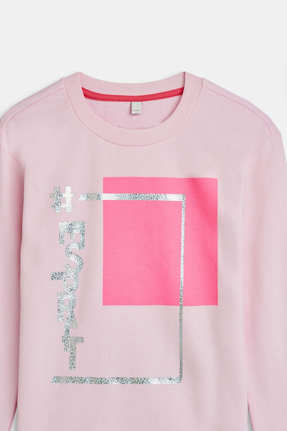 Sweatshirt with a metallic print, 100% cotton, LCLIGHT PINK, detail image number 2